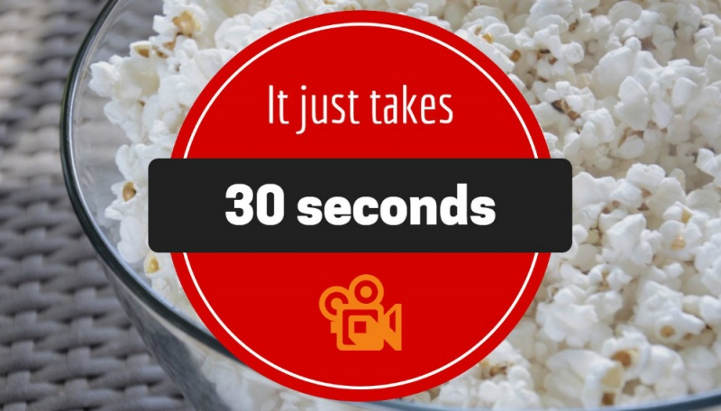 It Just Takes 30 Seconds to Engage